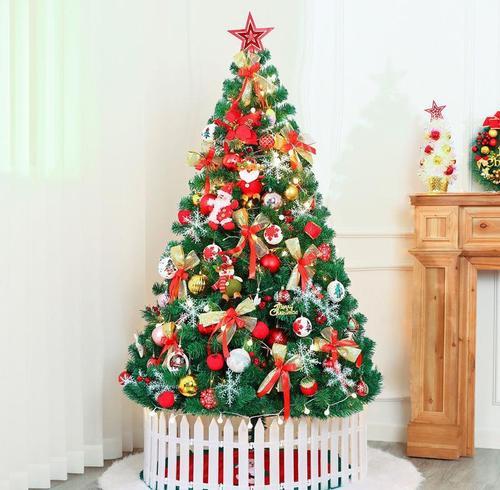 套餐摆圣诞树1.5米豪华布置品装饰家用1.8件圣诞节