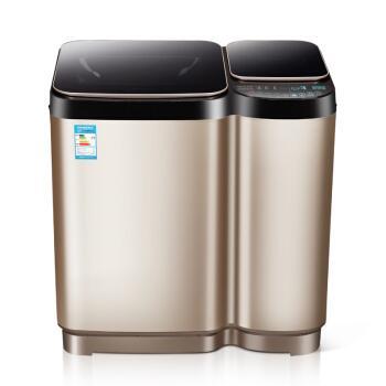 德国派克11公斤子母洗衣机全自动加热免清洗家用分双桶大小双筒 11