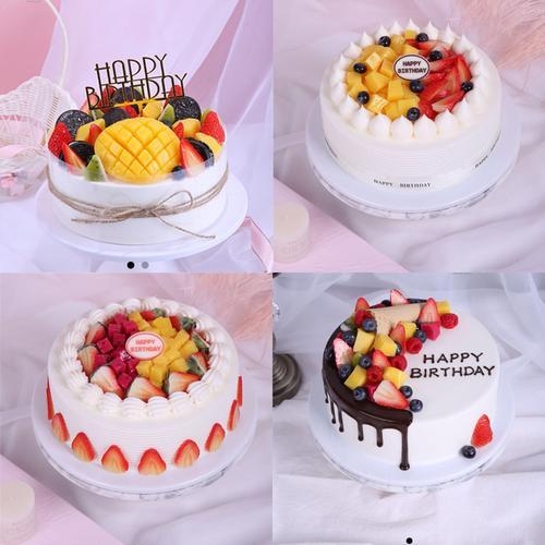 生日蛋糕模型仿真2020新款网红水果蛋糕样品模具模型