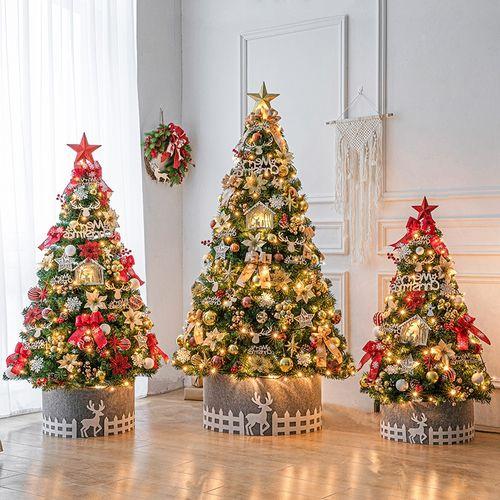 装饰品装饰恒圣诞树欧式套餐系圣诞树2.1米套餐装饰150cm金色港