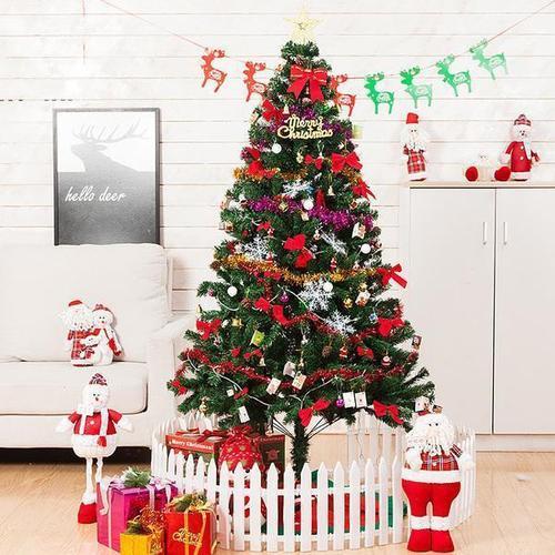 豪华圣诞节装饰品圣诞树1.5米1.8米2.1米3米 加密圣诞