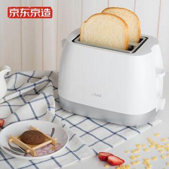 京东京造 烤面包机 多功能多士炉 6档烘烤 吐司加热机