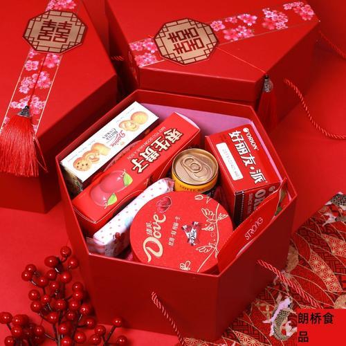 加大 喜糖礼盒成品含糖果结婚套装伴娘伴手礼婚礼回礼