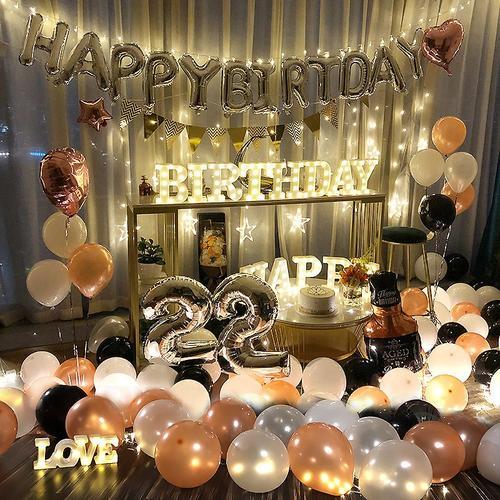 生日派对趴体装饰场景布置气球套装男孩女孩惊喜场景