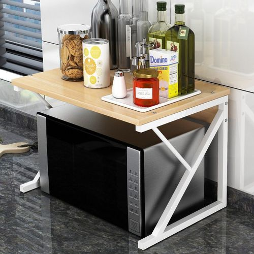 厨房微波炉置小迷你板桌物架子家用台面支架收纳落地