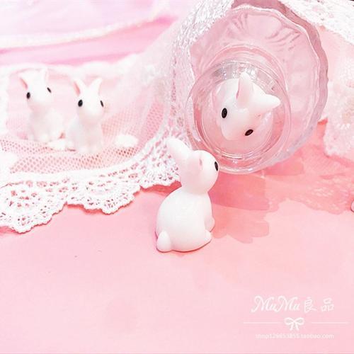 mumu良品日系可爱迷你兔子手办摆件少女心小白兔装饰摆件动漫周边