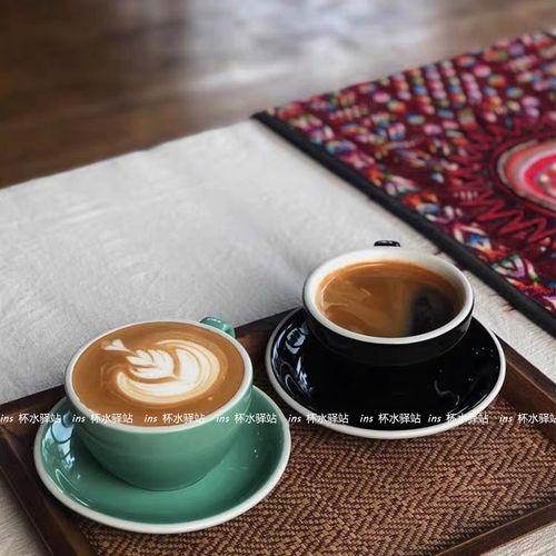 ins北欧简约咖啡杯碟套装创意陶瓷拿铁拉花杯英式下午