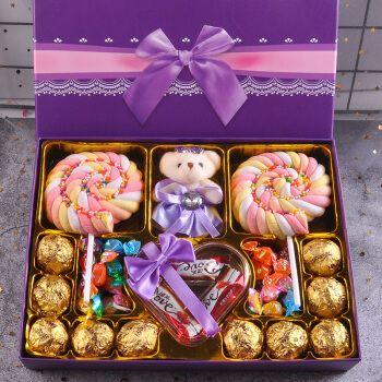 德芙巧克力糖果礼盒装送女生男友创意零食生日中秋节礼物 黑色炫彩