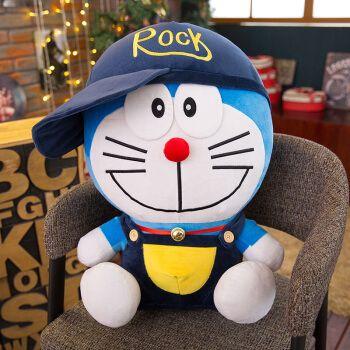 a梦 叮当猫公仔哆啦a梦抱枕蓝胖子玩偶动画片机器猫儿童玩具生日礼物