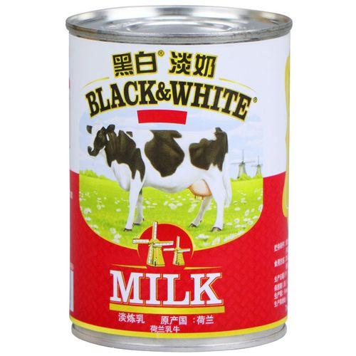 黑白淡奶 小包装荷兰黑白牌淡奶黑白淡奶400g*6罐奶茶