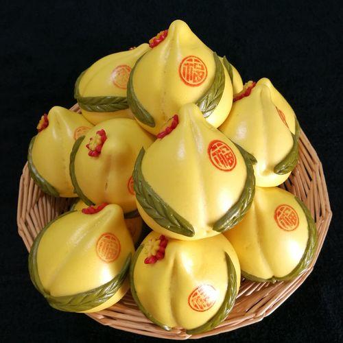 胶东花饽饽馍馍生日礼物春节过年货祭祀贡供品馒头寿包黄金小寿桃