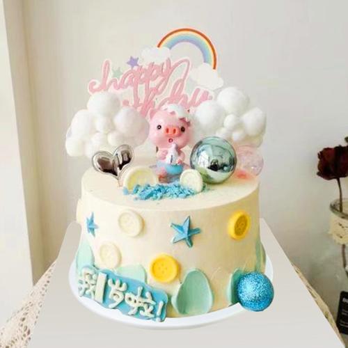 蛋糕模型仿真2020新款网红创意流行宝宝一岁生日橱窗