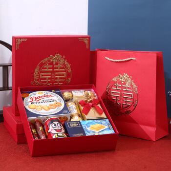 结婚喜饼喜糖礼盒装回礼伴手礼 大号婚礼订婚宴成品含