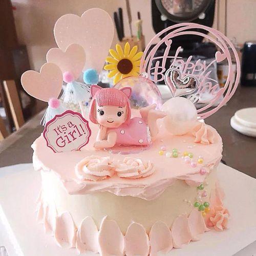 艾伦王子爱乐公主烘焙摆件男孩女孩宝宝满月周岁生日蛋糕装饰公仔