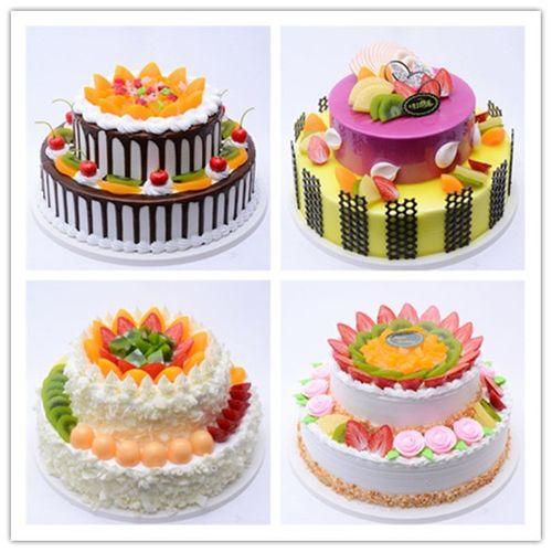 卓越蛋糕模型 新款双层水果蛋糕模型  欧式水果蛋糕
