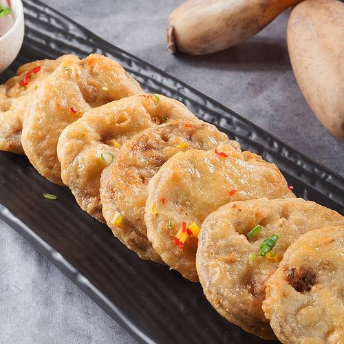 滋味轩 藕夹藕盒 猪肉馅速冻熟食加热即时冷冻新鲜半成品油炸藕饼