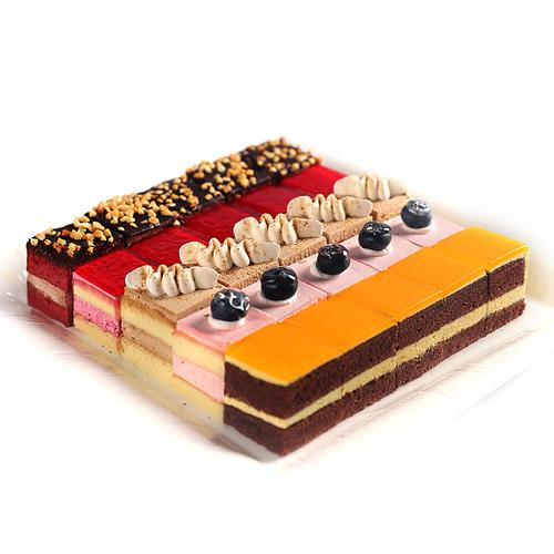 缤纷五合一慕斯生日蛋糕小切块慕斯蛋糕巧克力水果