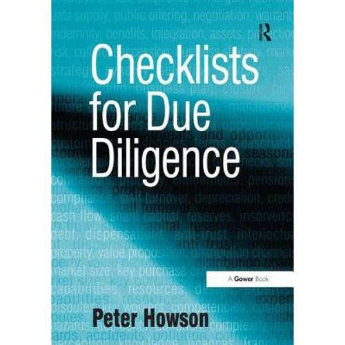 预订 checklists for due diligence