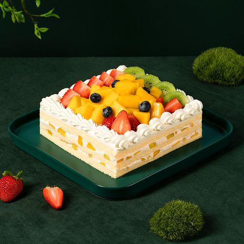 【77周5福利购-88元2磅77】百果园-鲜果奶油蛋糕