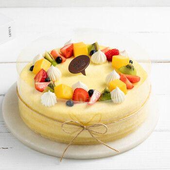 芒果榴莲千层蛋糕芝士慕斯水果生日蛋糕儿童动物淡奶油同城配送当日